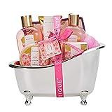 Bad Geschenkset, SPA LUXETIQUE Beauty Set 8-teiliges Bade- und Dusch Set Rosen Duft, Muttertags Bade- und...