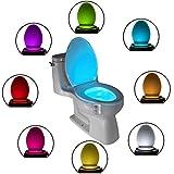 Das Nachtlicht Gadget für die Kloschüssel Lustiges LED Bewegungslicht. Vatertagsgeschenk Muttertagsgeschenk...