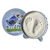 Baby Art - Geschenkbox aus Metall, Rund, besondere Geschenke Box mit Gipsabdruck zum Selbermachen für Baby...