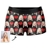 VEELU Personalisiert Herren Boxershorts Unterwäsche Unterhose mit Bilder Foto Funny Gesicht, Multi-Farbe...
