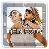 PhotoFancy® - Uhr mit Foto Bedrucken - Fotouhr aus Acrylglas - Wanduhr mit eigenem Motiv selbst gestalten (35...