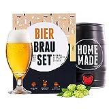 Bierbrauset zum selber brauen | Pils im 5 liter Fass | In 7 Tagen fertig | Perfektes Geschenk für Männer,...