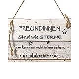 Wand Deko Holzschild mit Spruch im Shabby Chic Vintage Stil (20x29x0,5cm) FREUNDINNEN - die Geschenkidee für...