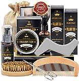Bartpflegeset Geschenke für Männer mit Kostenlos Bartshampoo,Bartöl Bartbalsam Bartkamm Bartbürste...
