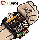 Bestes Männer Geschenke Magnetisches Armband - Magnetarmband Handwerker mit 15 Leistungsstarken Magneten,...
