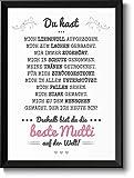 Beste Mama Bild im schwarzem Holz-Rahmen Geschenkidee Geschenke für Mutti zum Muttertag Muttertagsgeschenk...