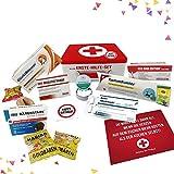 Geburtstagsgeschenk - Aller Erste Hilfe Set Geschenk-Box, witziger Sanikasten | Das Original | Scherzartikel...