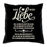 Soreso Design Warum ich Dich Liebe Kissen inkl. Füllung Romantische Geschenkidee für Verliebte Geschenk für...