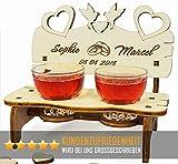 PISDEZ Romantisches Hochzeitsgeschenk - Hochzeitsbank - Hochzeitstag Geschenke für männer -...