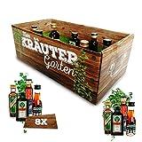 Männer-Kräutergarten | witziges Geschenk mit Alkohol | 8x Kräuter-Likör für Männer und Frauen |...