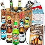 BIERE DER Welt Geschenk Box Männer + inkl Bierbuch + inkl Geschenkkarten + Bier Geschenke + Geburtstags...